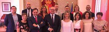 Toma de posesión de Lucas Castillo como alcalde de Guadalajara.
