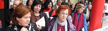 """Paula Fernández, durante la inauguración de la exposición """"Te corresponde, nos corresponde"""""""