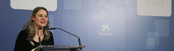 La directora del Instituto de la Mujer, Araceli Martínez, inaugura, en el centro cultural 'San Clemente', el I Foro de Igualdad de Toledo 'SER MUJER'. Posteriormente, participa en la mesa redonda sobre machismo y violencia de género junto a la cantante Rozalén. (Fotos: Ignacio López // JCCM)