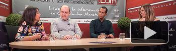 Donelia Roldán, abogada de ACCEM, Braulio Carlés, coordinador regional de ACCEM, Danilo Campos Pereira, coordinador provincial ACCEM en Albacete, y Miriam Martínez, periodista del Grupo Multimedia de Comunicación La Cerca