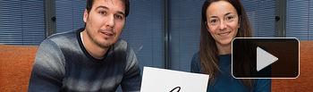 David Leal y Elena Mansilla, socios-trabajadores de la Ciudad del Deporte