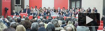 Reunión del Comité Federal en Aranjuez, el Secretario General interviene ante los miembros del Comité Federal.