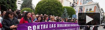 Concentración en respuesta del feminicidio ocurrido el pasado lunes en Albacete