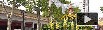 Traslado de la Virgen de Los Llanos al Ayuntamiento de Albacete.