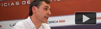 Francho Tierraseca, miembro de la plataforma 'Somos Socialistas' en apoyo a Pedro Sánchez de cara a las primarias a la Secretaría General del PSOE