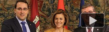 Presidenta Cospedal preside firma convenio Centenario Quijote_1. Foto: JCCM.