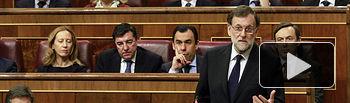 El presidente del Gobierno, Mariano Rajoy, durante la sesión de control al Ejecutivo celebrada en el Congreso de los Diputados.