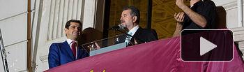 José Francisco Roldán pregonando la Feria de Albacete 2015.