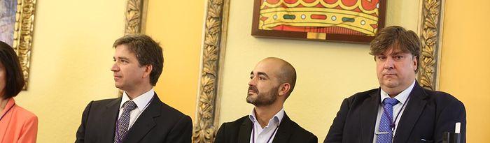 Rafael Pérez Borda, Israel Marco y Fernando Parlorio.