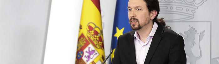 Pablo Iglesias, vicepresidente de Derechos Sociales y Agenda 2030 (Archivo). Foto: Pool Moncloa www.lamoncloa.gob.es.
