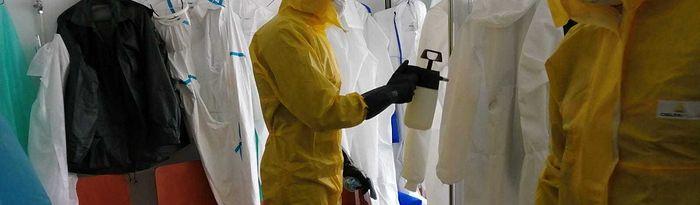 Coronavirus- Desinfección Servicio Contra Incendios de Albacete en centros de salud.