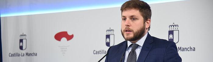 Rueda de prensa del Consejo de Gobierno extraordinario. . Foto: Jose Ramon Marquez // JCCM