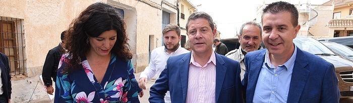 Emiliano García-Page en Barrax.