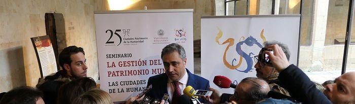 Ángel Mariscal en el seminario sobre patrimonio en la Universidad de Salamanca.