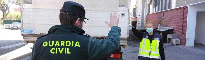 Interior reparte más de 1 millón de mascarillas a Policía, Guardia Civil e Instituciones Penitenciarias.