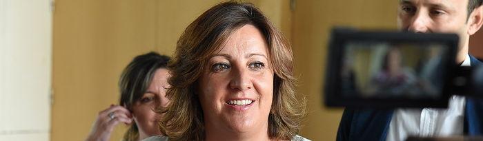 Toledo, 15 de julio de 2019.- La consejera de Economía, Empresas y Empleo, Patricia Franco, asiste al Encuentro de Lanzaderas de Empleo, en la Escuela de Administración Regional. (Foto: José Ramón Márquez // JCCM).