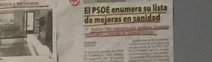 El PP denuncia que el gobierno de Page y Podemos utilizan medios y dinero público en la Delegación de Sanidad de Guadalajara para hacer propaganda política
