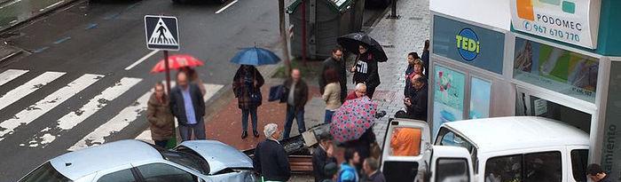 Accidente en la Avenida Ramón y Cajal de Albacete