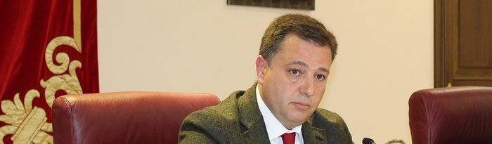 Manuel Serrano, alcalde de Albacete. Pleno Abril 2019