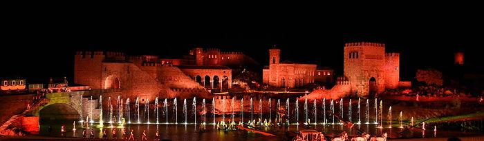 Inauguración del parque temático Puy du Fou España y al estreno del espectáculo nocturno 'El sueño de Toledo'. (Fotos: José Ramón Márquez // JCCM).