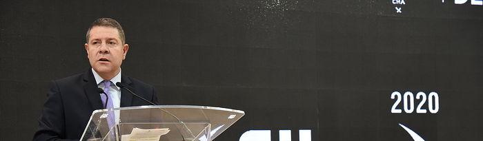 El presidente regional, Emiliano García-Page, inaugura, en el recinto ferial de IFEMA, el stand institucional de Castilla-La Mancha en la 40ª edición de la Feria Internacional de Turismo (FITUR). (Fotos: José Ramón Márquez //JCCM).