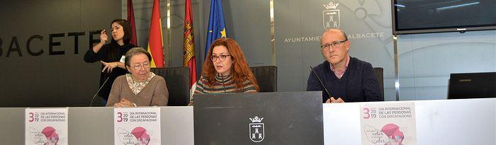 Presentación de la gala por el Día de la Discapacidad en Albacete.