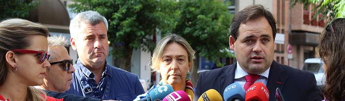 Paco Núñez, durante la rueda de prensa que ha ofrecido en Guadalajara.