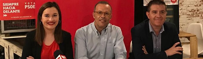 Rueda de prensa en Almansa.