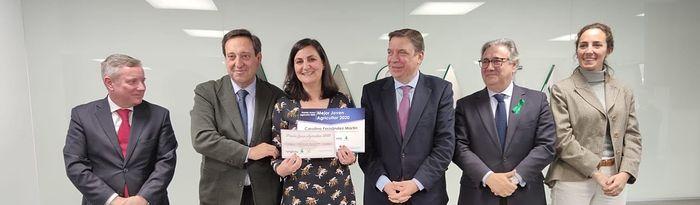 Carolina Fernández Martín, ganadora del VI Premio Nacional Joven Agricultor 2020, organizado por Asaja.