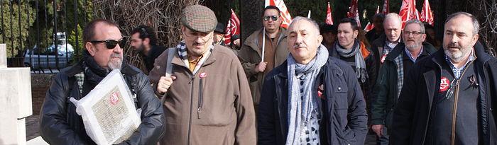 Pepe Alvarez y Carlos Pedrosa en Cementerio Guadalajara