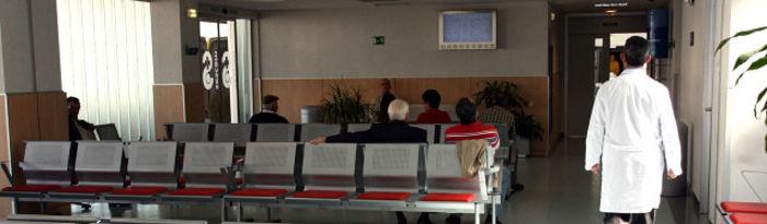Sala de espera del Hospital La Mancha Centro.