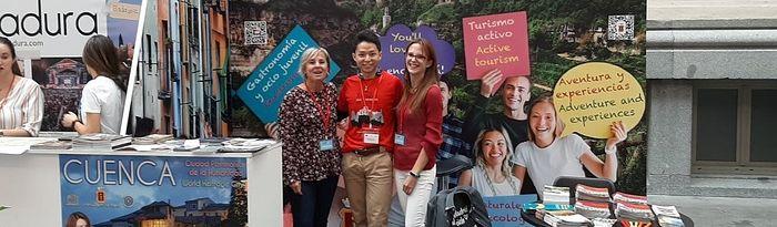 Cuenca promociona su oferta formativa y cultural a estudiantes extranjeros en el 'Madrid Student Welcome Day'.