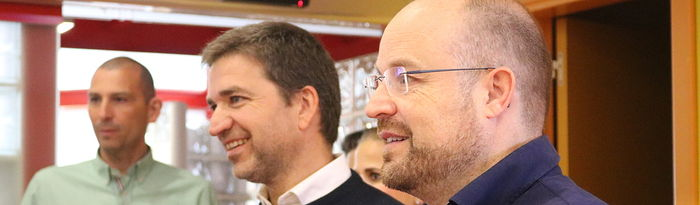 El candidato de Cs a las Cortes regionales por la provincia alcarreña, Alejandro Ruiz y Rafael Pérez Borda, número uno a la Alcaldía al Ayuntamiento de Guadalajara.