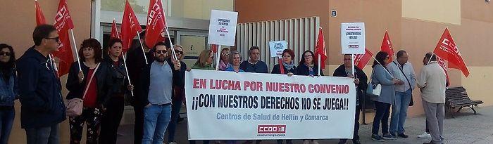 Huelga de limpiadoras en el centro salud de Hellín.