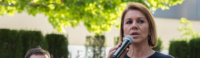 María Dolores de Cospedal mantiene un encuentro con militantes en Albacete