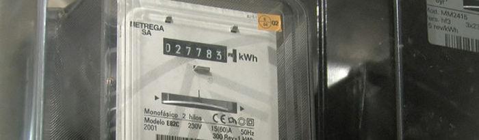 Contador de electricidad.