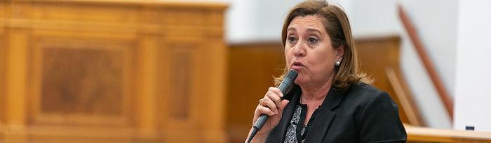 Rosa Ana Rodríguez, consejera de Educación, Cultura y Deportes.
