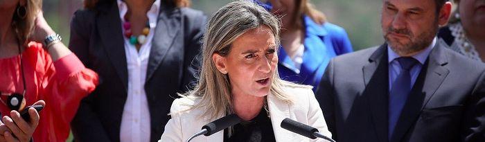 Milagros Tolón durante la presentación de la candidatura del PSOE a las elecciones europeas.
