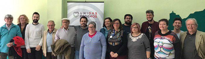 Los candidatos de Unidas Podemos por Albacete con militantes y simpatizantses de Unidas Podemos por Albacete