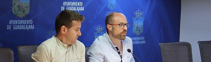 Alejandro Ruiz y Ángel Bachiller concejales de Cs Guadalajara.