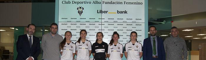Acuerdo firmado entre el Fundación Albacete Femenino y Liberbank.