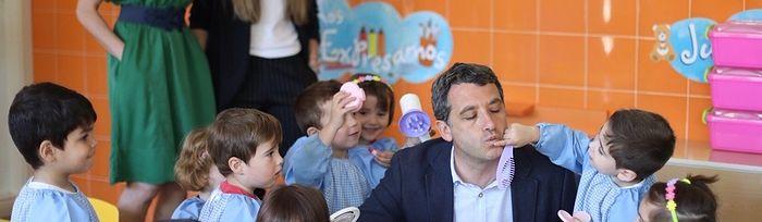 Paños visita la Escuela Infantil Municipal Ana María Matute.