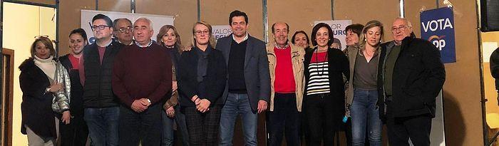 Valverde y Merino participan en un acto electoral en Santa Cruz de Mudela.