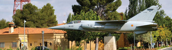 Imagen de una de las plazas de la Base Aérea de Los Llanos, en Albacete.
