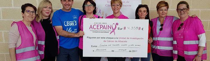 Recaudación de la II Carrera Solidaria a beneficio de ACEPAIN.