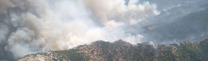 Incendio en Yeste. Foto: Twitter @gobjccm