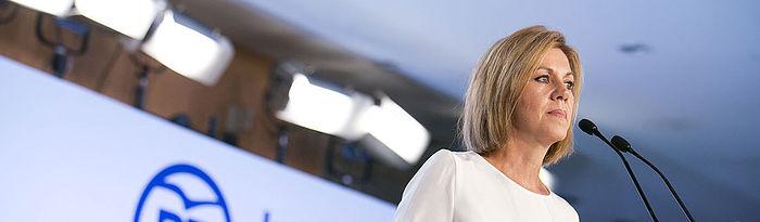 Mª Dolores Cospedal interviene en la Junta Directiva del PP de Cataluña