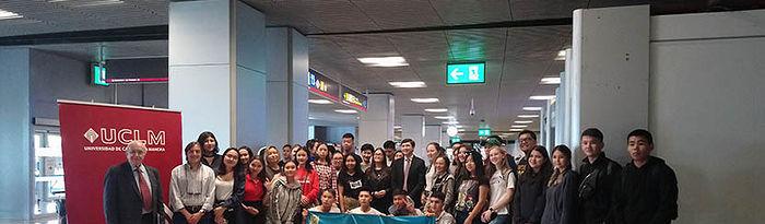 Estudiantes de Kazajistán.
