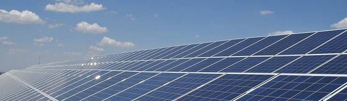 Planta solar fotovoltaica.