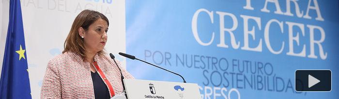 Agustína García, consejera de Fomento. Día Mundial del Agua